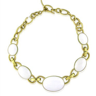 thumbnail image of New Faraone Mennella 18K Gold White Jade Necklace