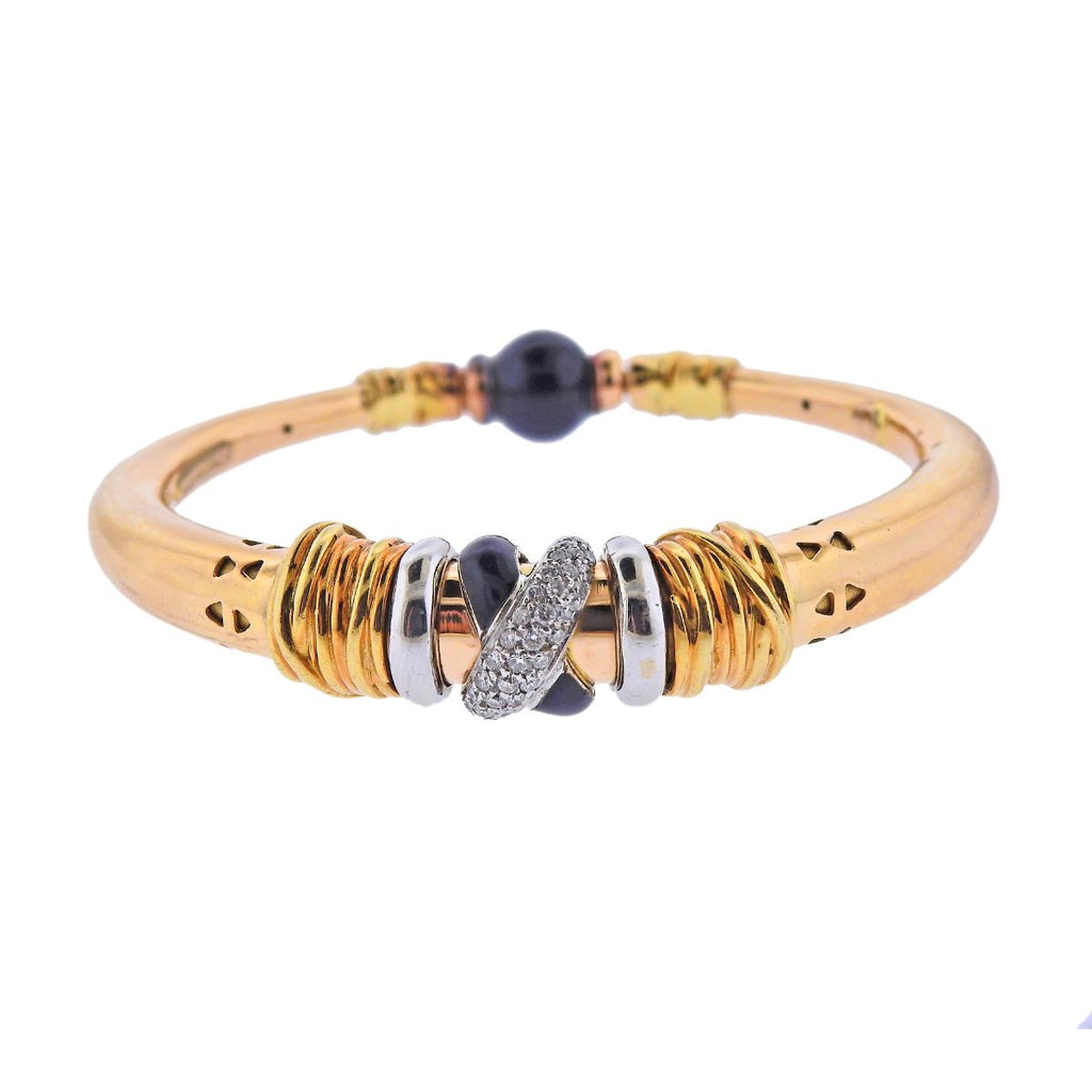 thumbnail image of La Nouvelle Bague Gold Diamond Enamel Bracelet