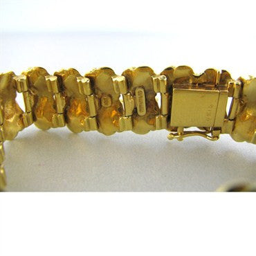 image of Estate Vintage Tiffany & Co 18k Gold Floral Bracelet