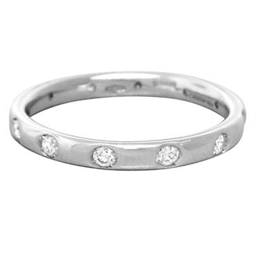 thumbnail image of New Pomellato Lucciole 18k Gold White Gold Diamond Band Ring Size 51