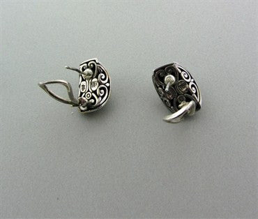 thumbnail image of Estate John Hardy Sterling Silver 18K Gold Earrings