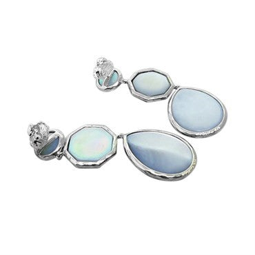 thumbnail image of New Ippolita Sterling Silver Rock Candy Quartz MOP Drop Earrings