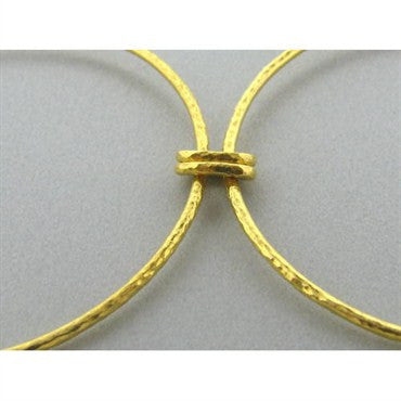 image of New Gurhan 24K Gold Impressive Circle Necklace