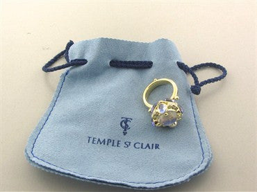 image of Temple St. Clair 18K Yellow Gold Royal Blue Moonstone Diamond Ring