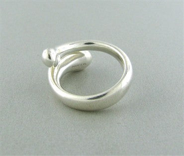 thumbnail image of Tiffany & Co Elsa Peretti Teardrop Sterling Silver Ring