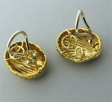 thumbnail image of Estate Henry Dunay 18K Yellow Gold Wave Earrings