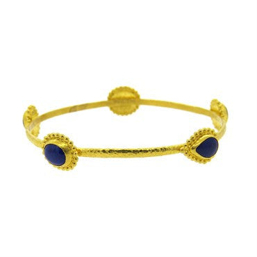 thumbnail image of Gurhan 24k Gold Lapis Lazuli Bangle Bracelet