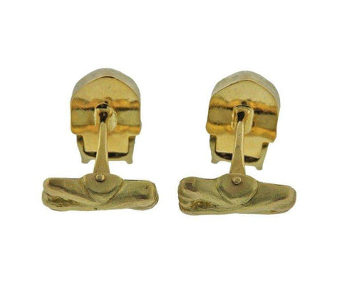 image of Deakin & Francis Diamond Gold Skull Cufflinks