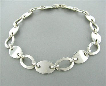 image of Estate Tiffany & Co. Sterling Silver Oval Link Necklace