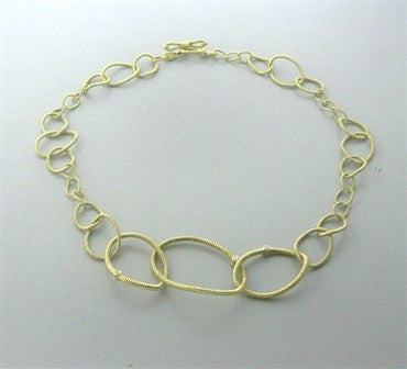 thumbnail image of Judith Ripka 18K Gold Diamond Jubilee Link Necklace