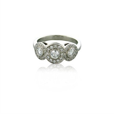 image of Tiffany & Co Circlet Platinum Diamond Ring
