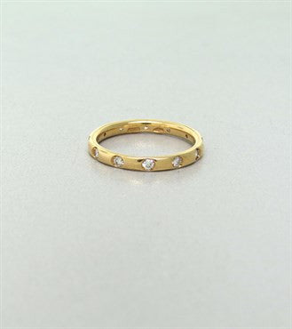 thumbnail image of New Pomellato Lucciole 18k Gold Rose Gold Diamond Band Ring Size 52