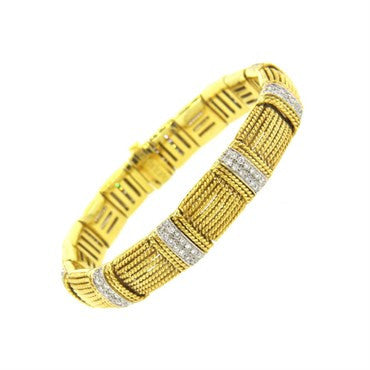 image of Roberto Coin 2.00ctw Diamond 18k Gold Bracelet