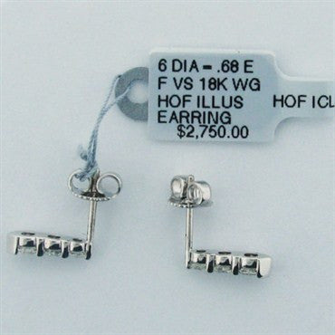 thumbnail image of Hearts on Fire Illusion 18k Gold Diamond Earrings