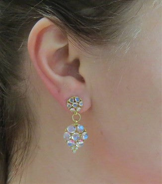 thumbnail image of Temple St. Clair Moonstone Diamond Gold Drop Earrings