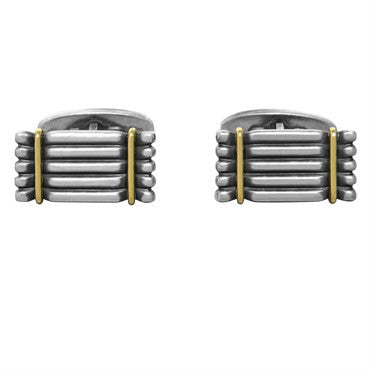 thumbnail image of Georg Jensen Sterling Silver Gold Cufflinks Number 156