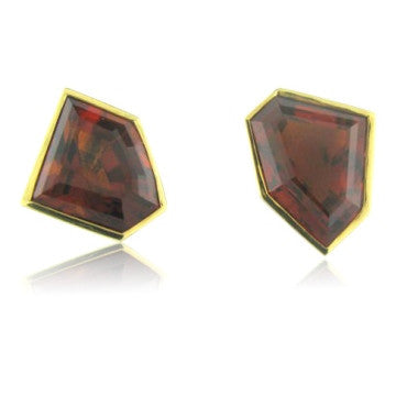 image of Vintage Tiffany & Co Picasso 18k Gold Citrine Earrings