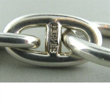 image of Esate Hermes Sterling Silver Link Toggle Bracelet