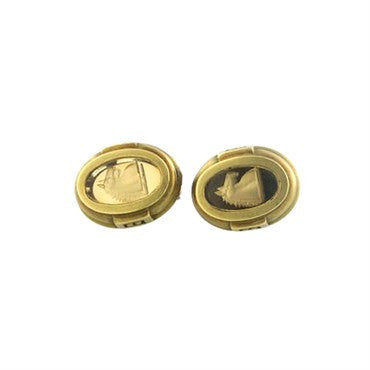thumbnail image of Kieselstein Cord 18k Gold Intaglio Earrings
