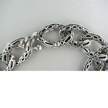 thumbnail image of Wide John Hardy Kali Collection Sterling Link Necklace