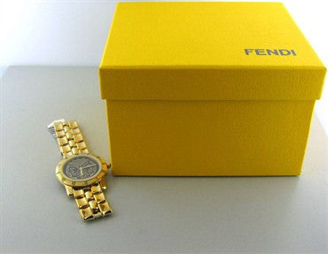 image of New Fendi Greek God Gold Tone Ladies Watch F85190
