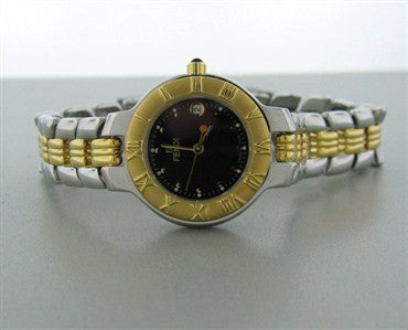 thumbnail image of Fendi Womens Petite Black Dial Two Tone Watch F90230N