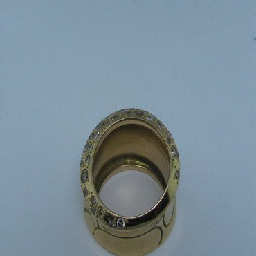image of Pomellato 18K Gold Fancy Yellow Champagne Diamond Ring
