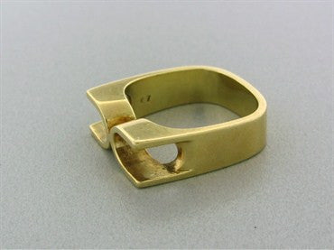 image of Estate Georg Jensen 18K Yellow Gold Ring