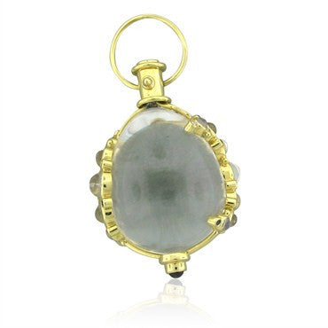 thumbnail image of Temple St.Clair Rock Crystal Sapphire Moonstone Amulet Charm Pendant