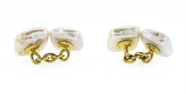 thumbnail image of Trianon Mother of Pearl Gold Cufflinks