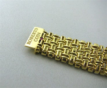 image of Roberto Coin Appassionata 18K Gold Diamond Bracelet
