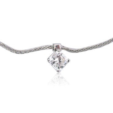 thumbnail image of Hearts On Fire 18k 0.40ct Diamond Solitaire Pendant