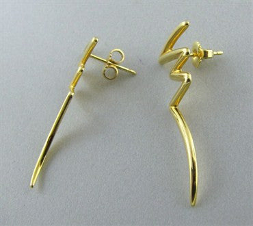 image of Tiffany & Co Paloma Picasso 18K Gold Scribble Earrings