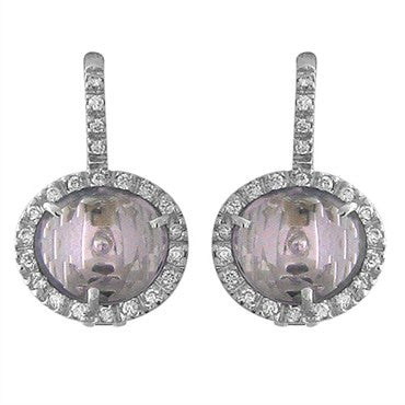 image of Pomellato Colpo Di Fulmine 18K White Gold Diamond Amethyst Earrings