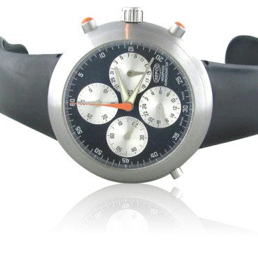 thumbnail image of Ikepod Hemipode Chronograph Stainless Steel Mens Watch