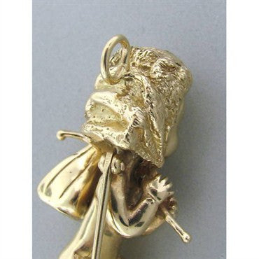 image of Rare Ruser Large 14k Gold Sapphire Pearl Pin Pendant