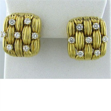 thumbnail image of Vintage Tiffany & Co 18k Gold 1.26ct Diamond Earrings