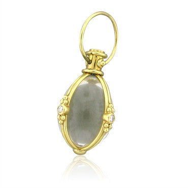 image of Temple St. Clair 18K Yellow Gold Crystal Diamond Large Amulet Pendant
