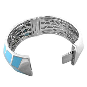 thumbnail image of Stephen Webster Sterling Silver Turquoise Inlay Bangle Bracelet