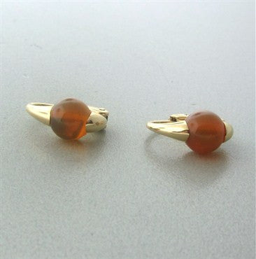thumbnail image of Pomellato M'ama Non M'ama 18K Gold Fire Opal Earrings