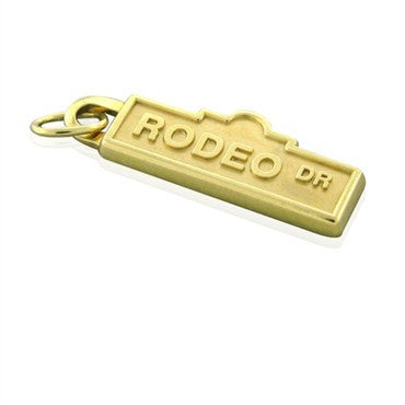 image of Estate Tiffany & Co 18k Gold Rodeo Dr Charm Pendant