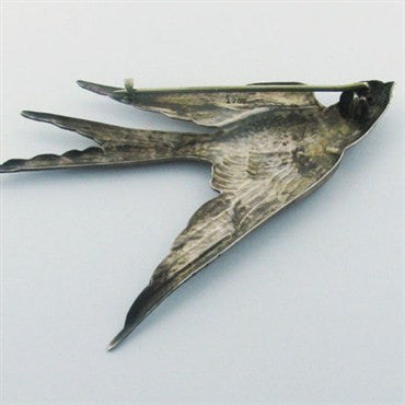 thumbnail image of Large Antique Sterling George Shiebler Bird Brooch