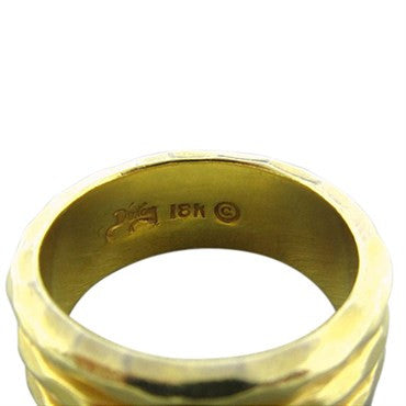 thumbnail image of Henry Dunay 18K Yellow Gold Hammered Finish Ring