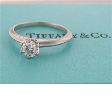 image of Tiffany & Co Platinum 0.45ct Diamond Engagement Ring