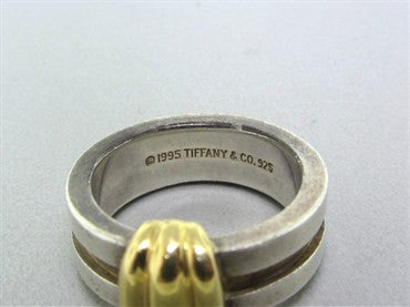 thumbnail image of Circa 1995 Tiffany & Co 18K Yellow Gold Sterling Silver Ring