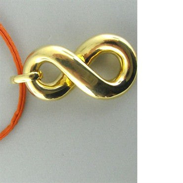 thumbnail image of New Faraone Mennella 18k Orange Leather Cord Necklace
