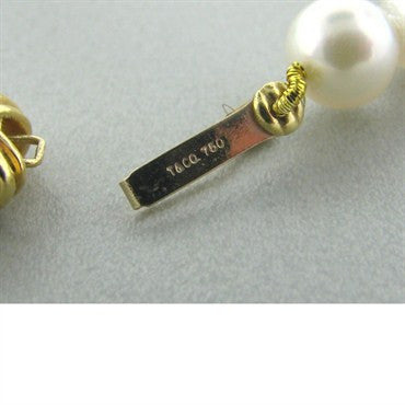thumbnail image of Estate Tiffany & Co Signature 18k Gold Pearl Necklace