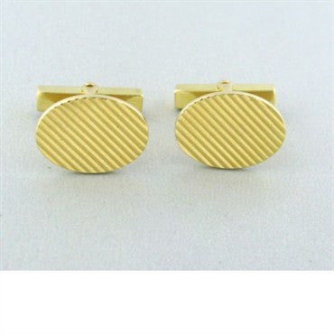 image of Vintage Tiffany & Co 14k Yellow Gold Cufflinks