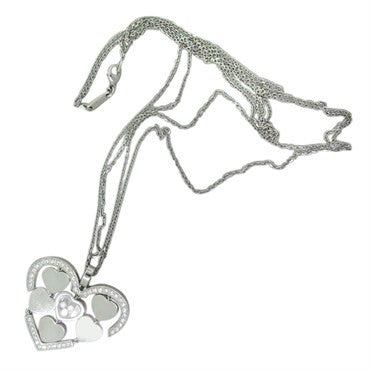 thumbnail image of Chopard Happy Amore Gold Floating Diamond Heart Pendant Necklace