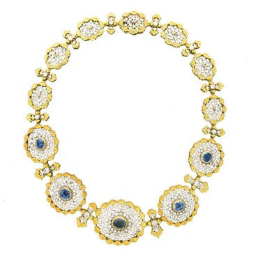 thumbnail image of Important Buccellati Sapphire Diamond Necklace